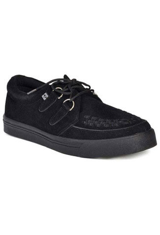 T.U.K. Black Classic Creeper Sneakers
