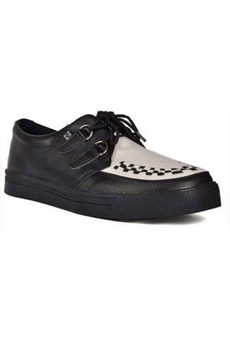 T.U.K. White Black Creeper Sneakers