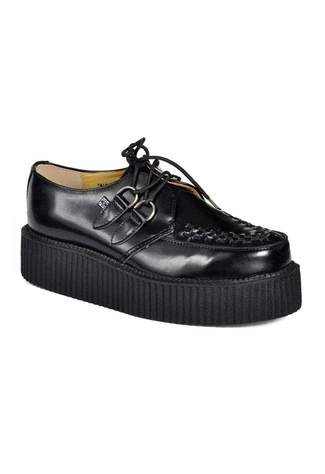 T.U.K. Black Leather Mondo Creepers