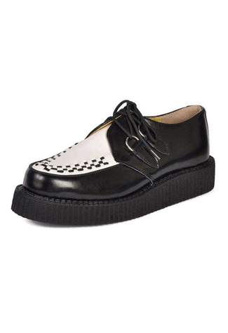 T.U.K. black white low creepers