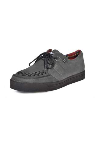 T.U.K. Grey Black Creeper Sneakers