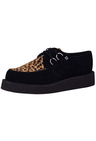 T.U.K. leopard suede low sole creeper