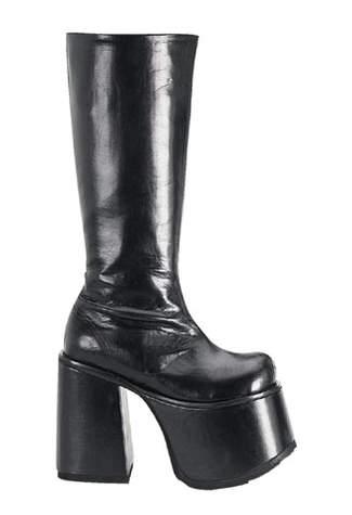 CHOPPER-100 Black Platform Boots