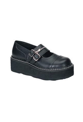 EMILY-306 Black Maryjane Shoes