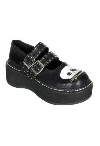 EMILY-222 Maryjane Skull Shoes