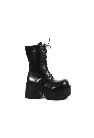 PLATOON-202 Black PU Boots
