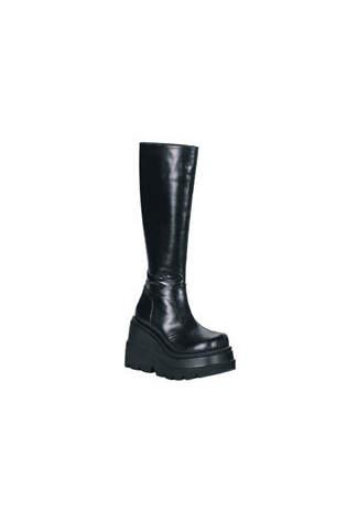 SHAKER-100 Black Platform Boots