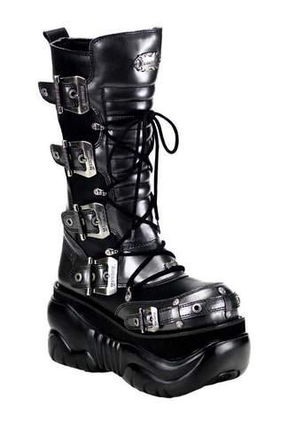 BOXER-205 Cobalt Platform Boots