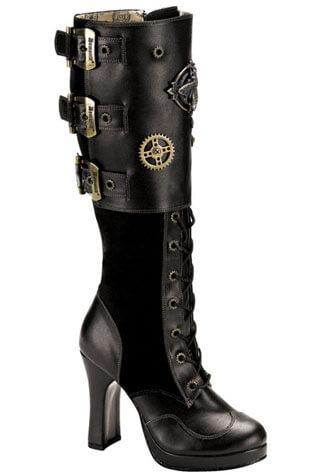 CRYPTO-302 Black Steam Boots