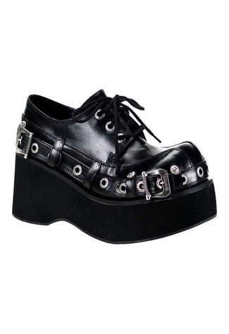 DANK-151 Black Wedge Shoes