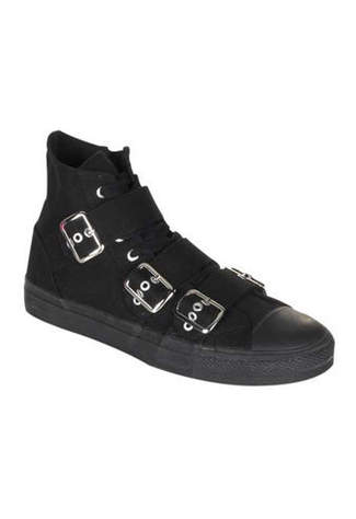 DEVIANT-109 Black Sneaker Boots