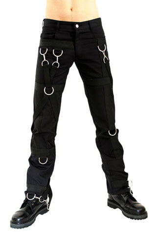 Hook and Ring Pants Denim Black - Clearance