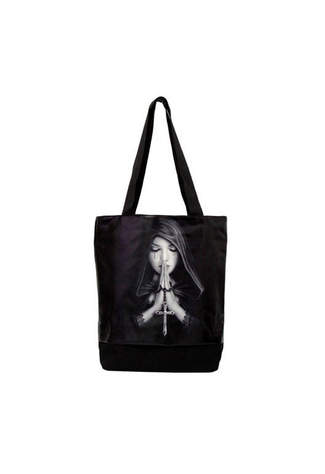 Gothic Prayer Tote Bag - Anne Stokes - Clearance