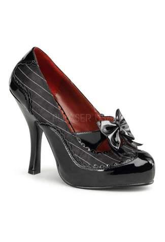 MAFIA-07 Black Pinstripe Heels
