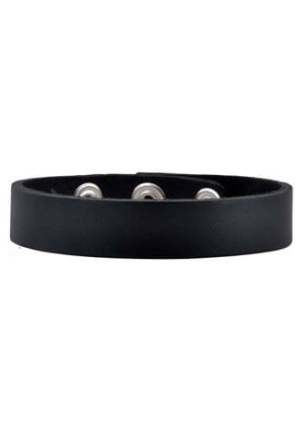 3/4 Plain Leather Snap Choker