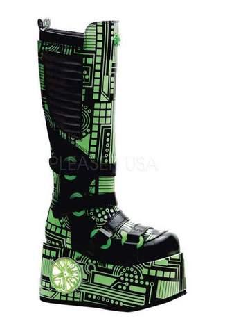 TECHNO-856UV Green Cyber Boots