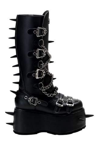 WICKED-808 Black Platform Boots