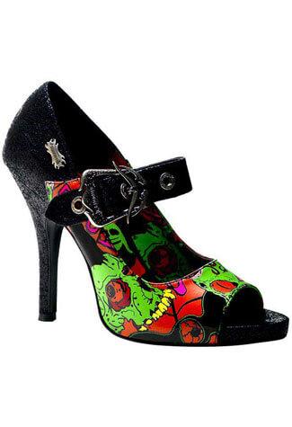 ZOMBIE-07 Black Zombie Heels