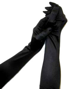 Stretch Satin Long Finger Gloves
