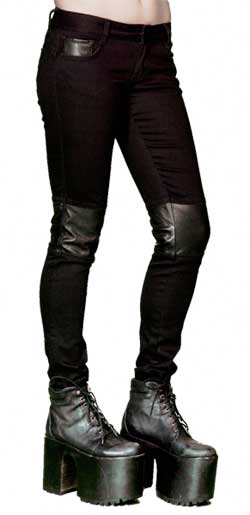 Skinny-Stretch Black Denim