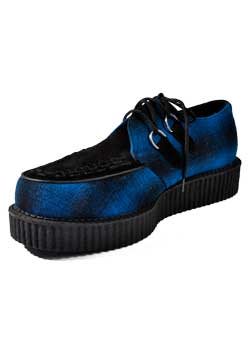 T.U.K. Blue Black Pendplaid Low Creepers