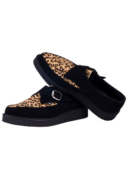 T.U.K. Leopard Suede Pointy Toe Creeper