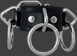 Triple Ring Bondage Wristband