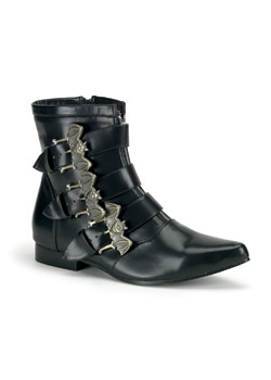 BROGUE-07 Black Bat Boots