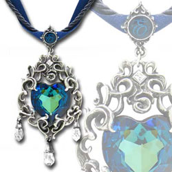 Empress Eugenies Blue Heart Pendant