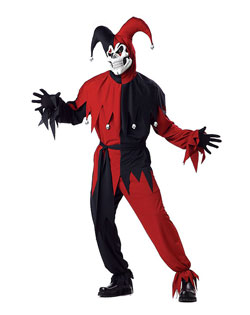 Evil Jester-Red Costume