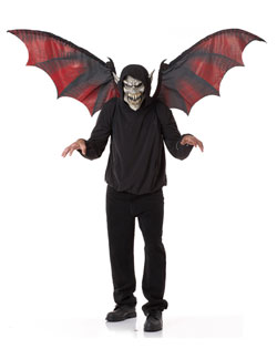 Vampire Mask and Wings Costume