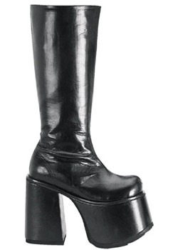CHOPPER-100 Black Platform Boots