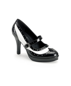 CONTESSA-06 Black White Stilettos