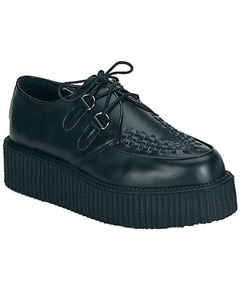 CREEPER-402 Black Leather Creeper