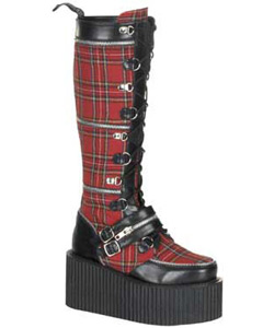 CREEPER-812 Plaid PU Creepers