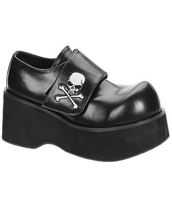 DANK-108 Black Skull Shoes
