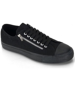 DEVIANT-06 Black Zipper Sneakers
