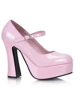 DOLLY-50 Pink Platform Heels
