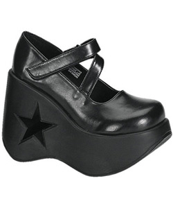 DYNAMITE-03 Black Platform Shoes