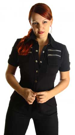 Womens Zip Shirt