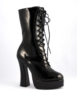 ELECTRA-1020 Black Patent Boots