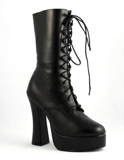ELECTRA-1020 Black Pu Boots