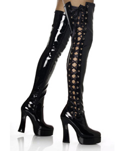 ELECTRA-3050 Black Thigh Boots