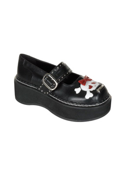 EMILY-221 Maryjane Skull Shoes
