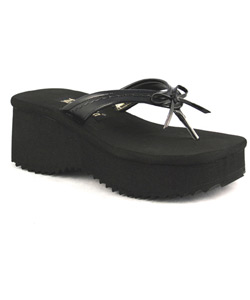 FLIP-07 Black Platform Sandals