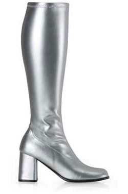 GOGO-300 Silver Gogo Boots