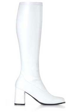GOGO-300 White PU Gogo Boots
