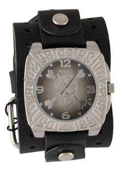 Cross Bones Leather Watch