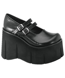 KERA-08 Black Platform Shoes