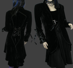 Velvet long jacket